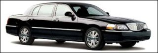Black Lincoln Town Car Executive Sedan