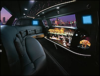 Super Stretch Lincoln Town Car Limousine Interior